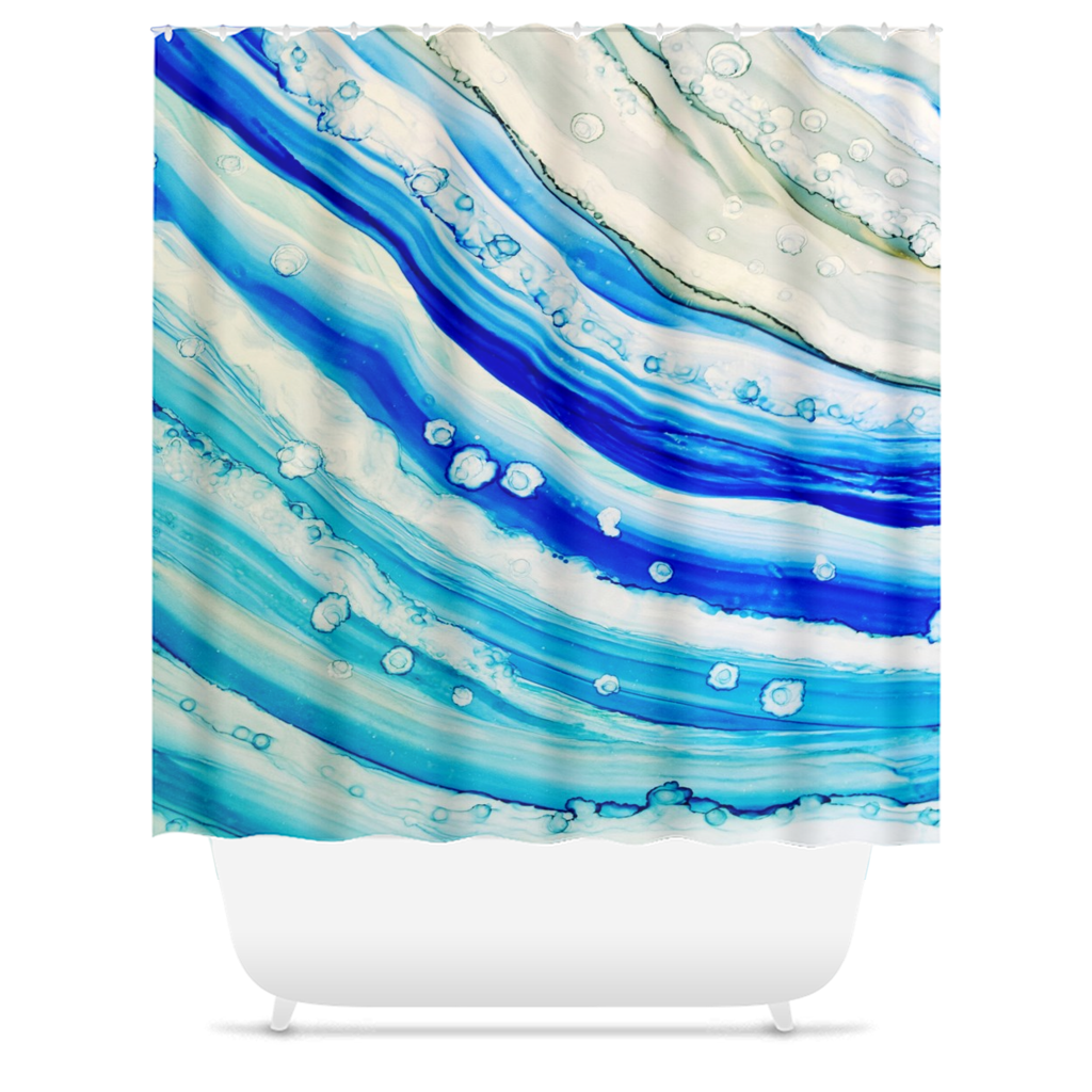 Abstract 24 Shower Curtains