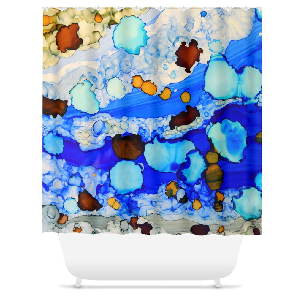 Abstract 23 Shower Curtains
