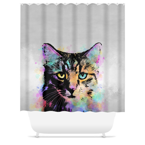 Cat 618 Shower Curtains