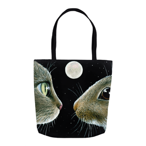 Cat 413 cat & rabbit Tote Bag