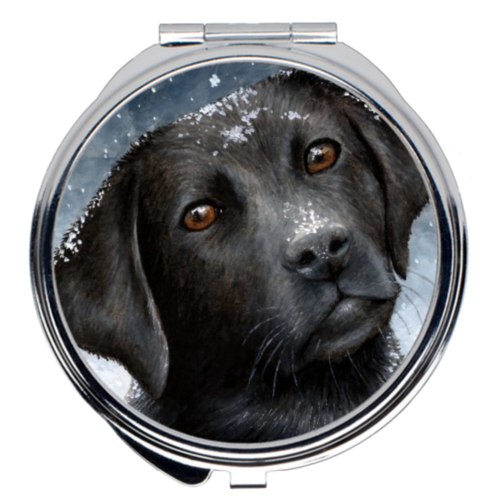 Dog 100 black Labrador Compact Mirror
