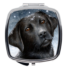 Load image into Gallery viewer, Dog 100 black Labrador Compact Mirror