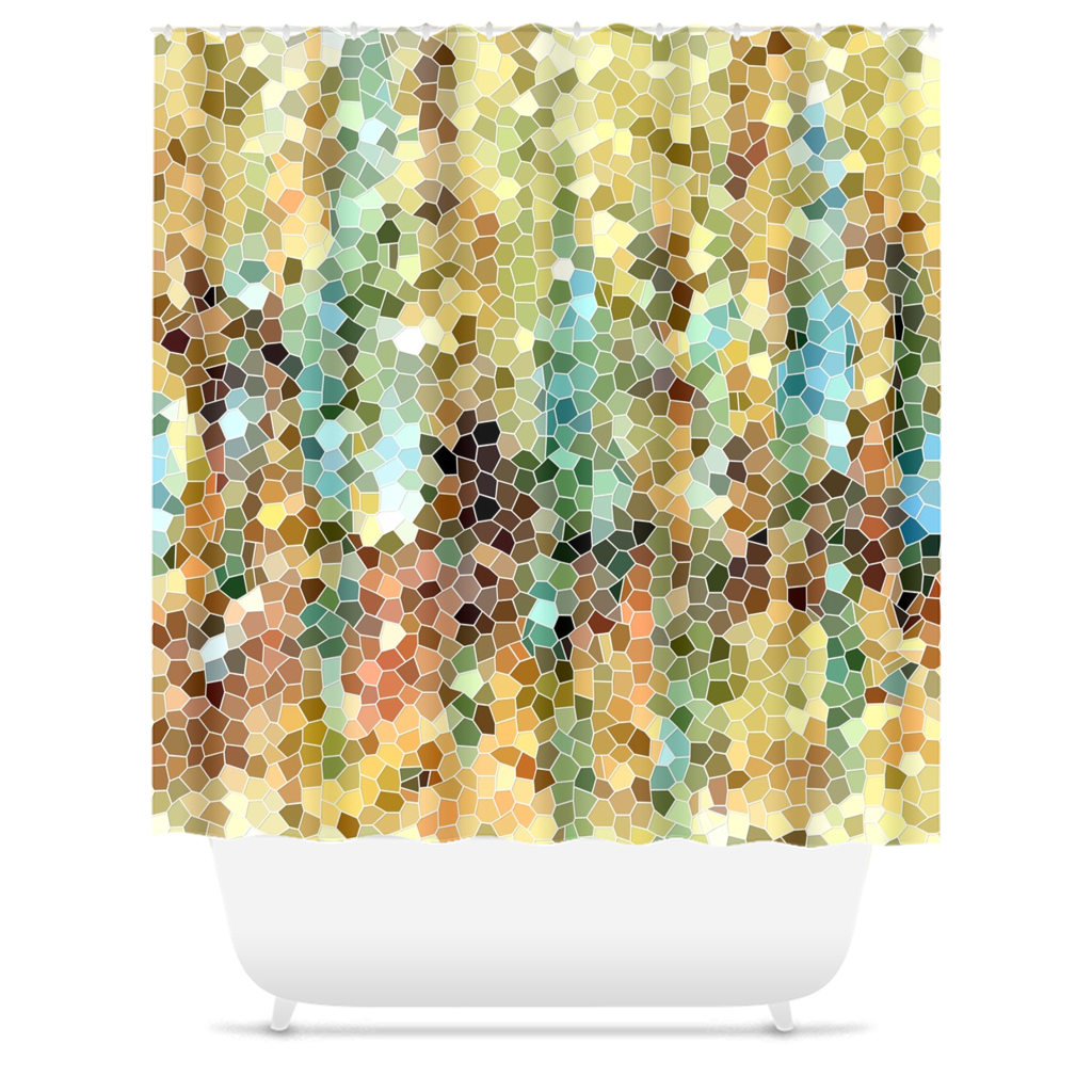 Abstract 22 Shower Curtains
