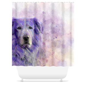 Dog 140 Golden Retriever Shower Curtains