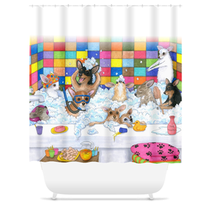 Dog 121 Chihuahua Shower Curtains