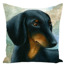 Load image into Gallery viewer, Dog 90 Dachshund Throw Pillow