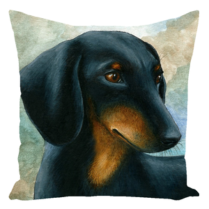 Dog 90 Dachshund Throw Pillow