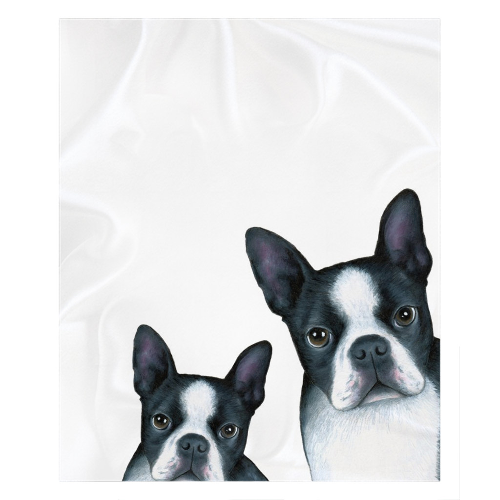 boston terrier throw blanket