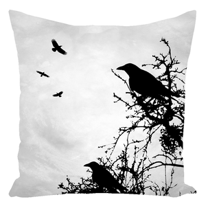 Design 43 Crow Throw Pillow