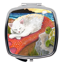 Load image into Gallery viewer, Cat Mermaid 26 Compact Mirror