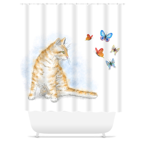 Cat 616 Shower Curtains