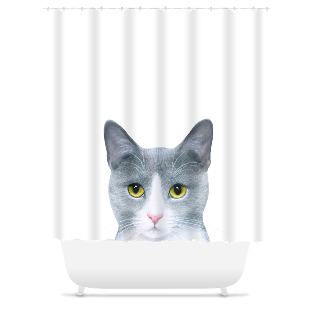 Cat 611 Shower Curtains