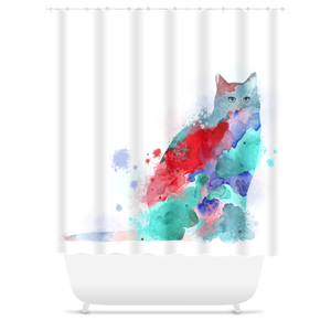 Cat 609 Shower Curtains