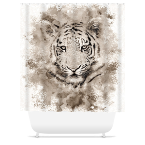 Tiger 4 Shower Curtains