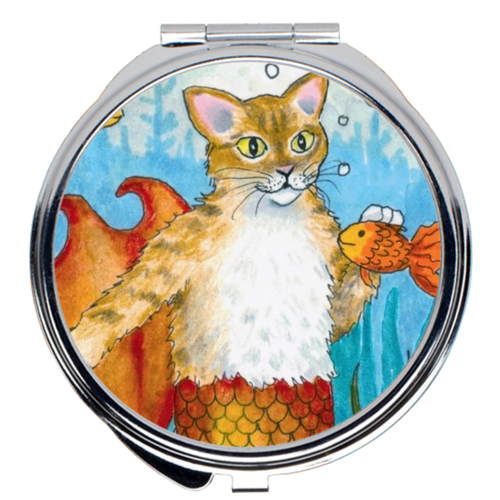 Cat Mermaid 27 Compact Mirror