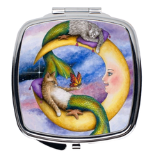 Load image into Gallery viewer, Cat Mermaid 29 Compact Mirror