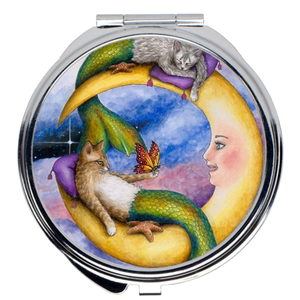 Cat Mermaid 29 Compact Mirror