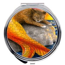 Load image into Gallery viewer, Cat Mermaid 30 Compact Mirror