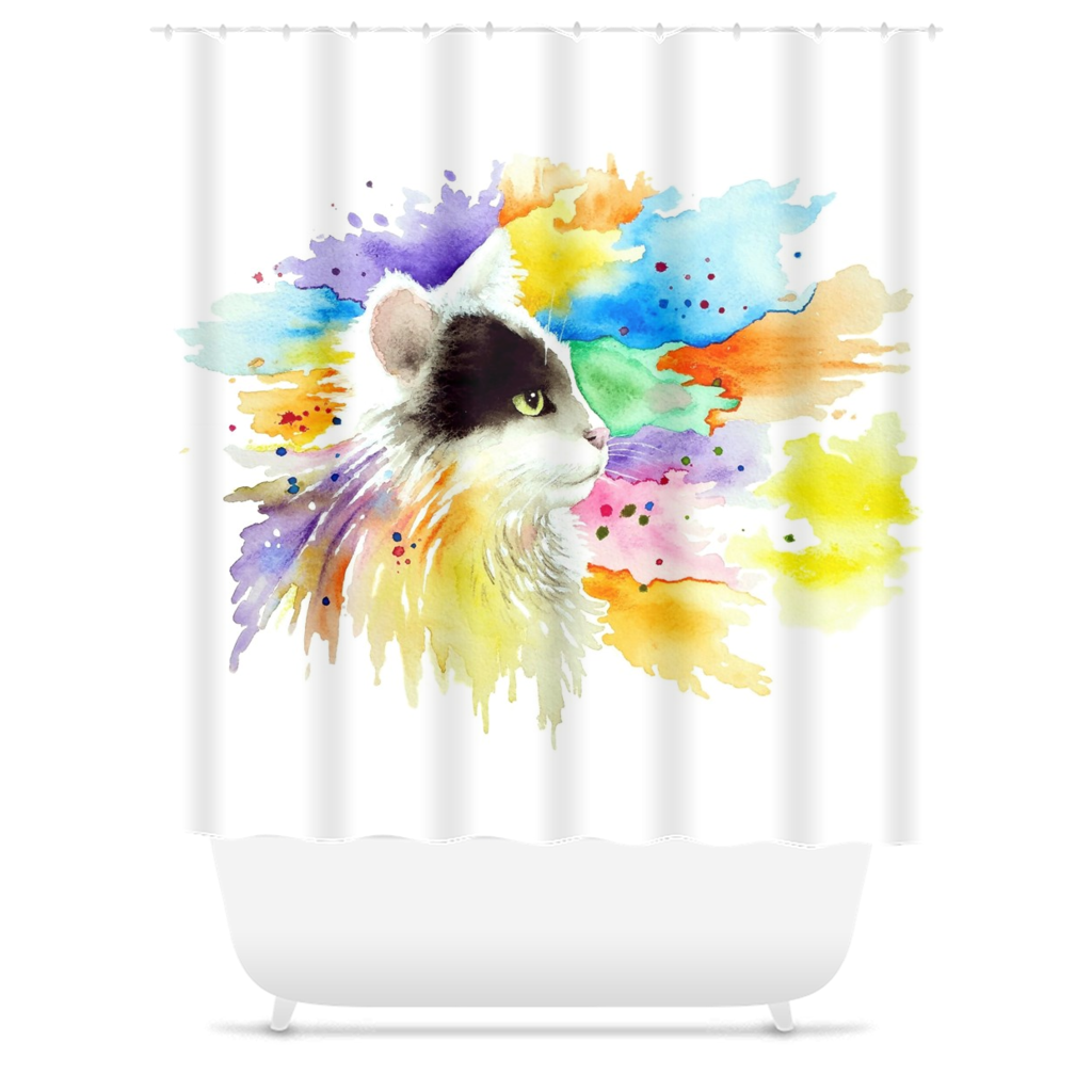 Cat 605 Shower Curtains
