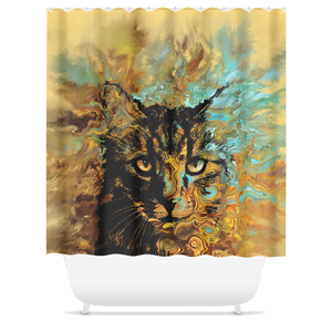 Cat 617 Shower Curtains