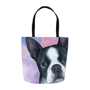 Dog 128 pink blue Tote Bag