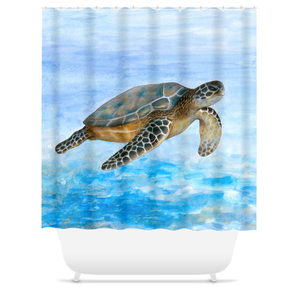 Turtle 1 Shower Curtains