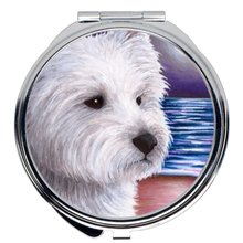 Load image into Gallery viewer, Dog 81 Westie Compact Mirror