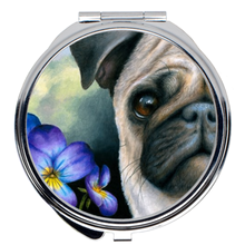 Load image into Gallery viewer, Dog 133 Pug Compact Mirror