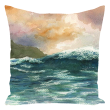 Load image into Gallery viewer, Sea View 264 Throw Pillow