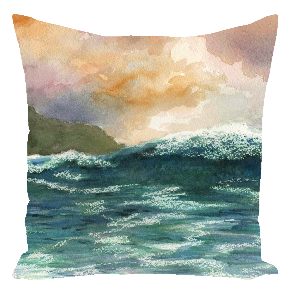 Sea View 264 Throw Pillow