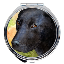 Load image into Gallery viewer, Dog 115 black Labrador Compact Mirror