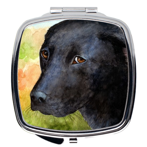 Dog 115 black Labrador Compact Mirror