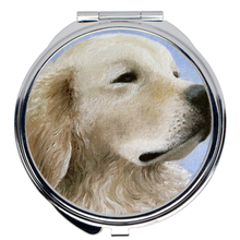 Load image into Gallery viewer, Dog 98 Golden Retriever Compact Mirror
