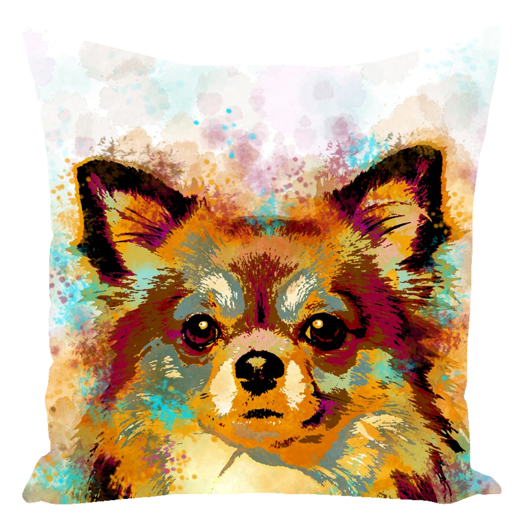 Dog 141 Chihuahua Throw Pillow