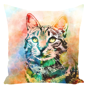 Cat 643 Throw Pillow