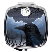 Load image into Gallery viewer, Bird 58 Crow Compact Mirror
