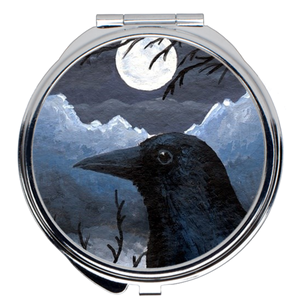 Bird 58 Crow Compact Mirror