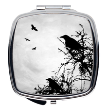 Load image into Gallery viewer, Design 43 Crow Compact Mirror