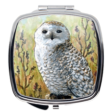 Load image into Gallery viewer, Bird 65 Snowy Owl Compact Mirror