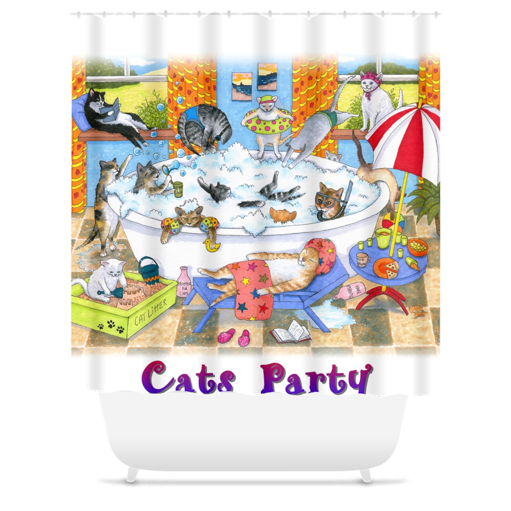 Cat 601 Shower Curtains