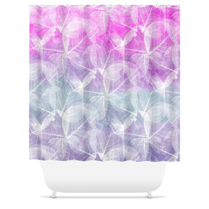 Design 45 Pink Purple Shower Curtains