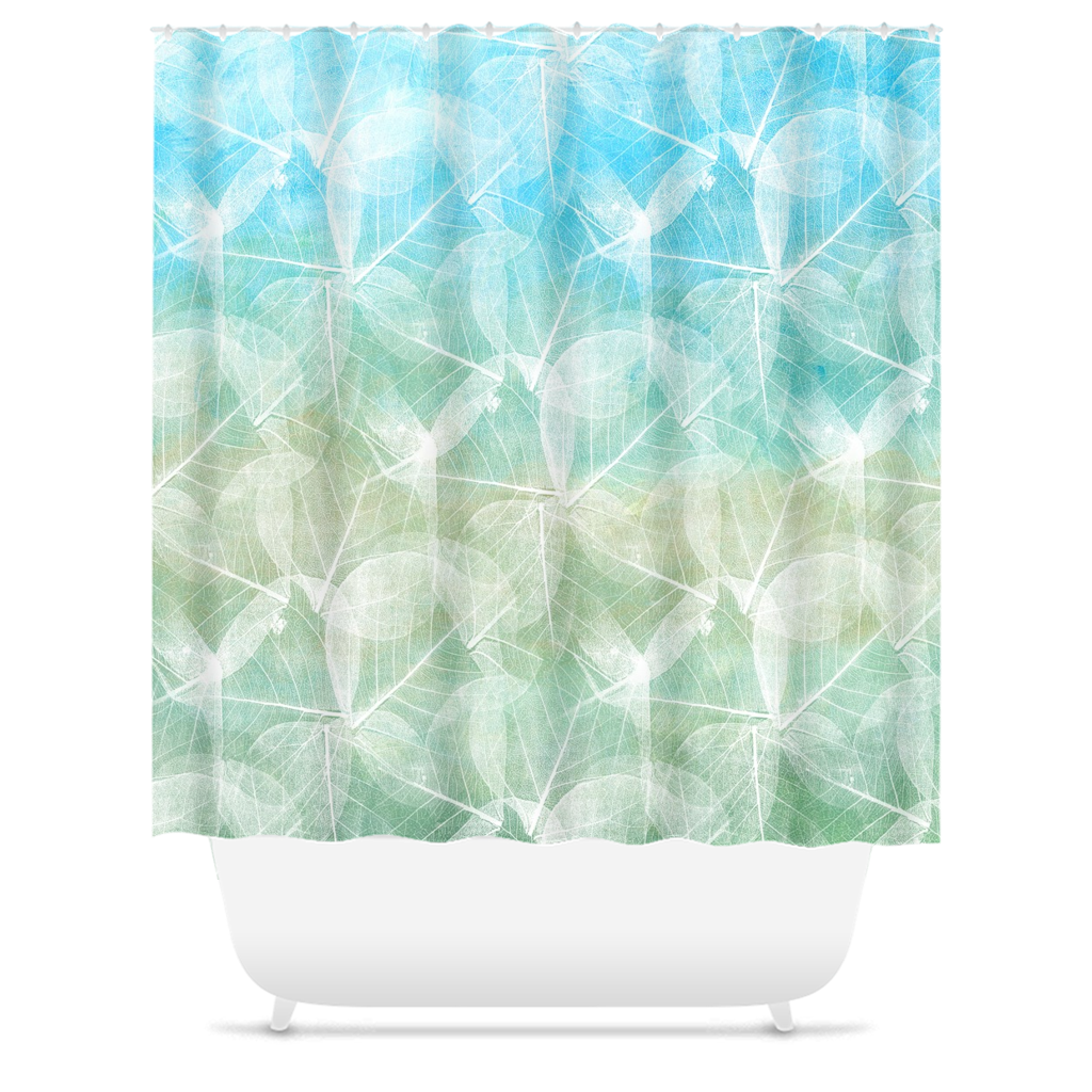 Design 45 Blue Green Shower Curtains