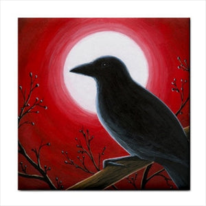 Bird 62 Crow Ceramic Tile