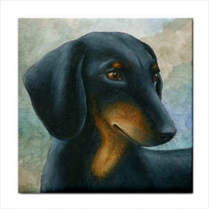 Dog 90 Ceramic Tile