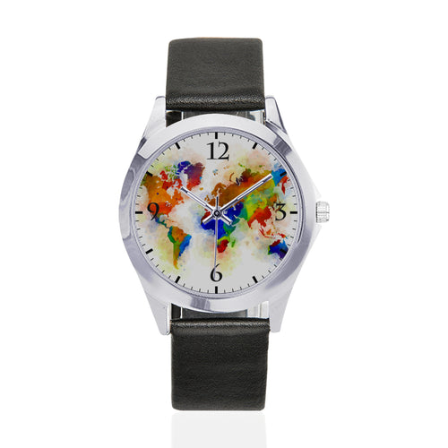 design 77 World Map Watch