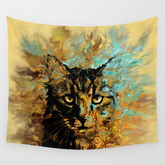 Cat 617 Wall Tapestry