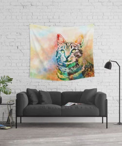 Cat 643 Wall Tapestry