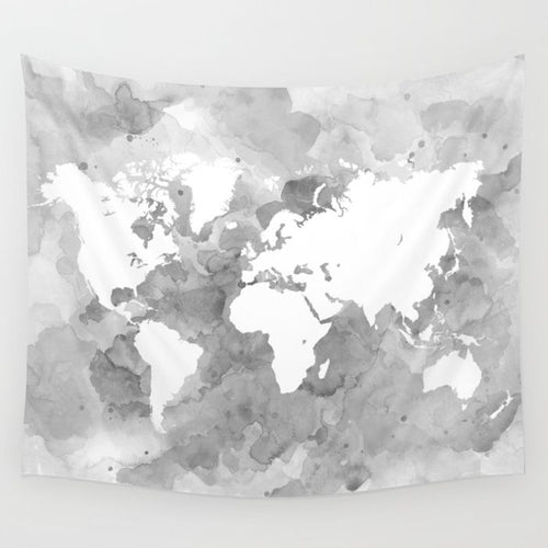 Design 49 world map Wall Tapestry