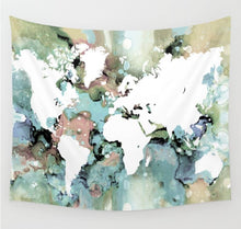 Load image into Gallery viewer, Design 96 World Map Wall Tapestry