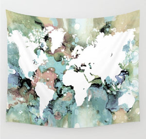 Design 96 World Map Wall Tapestry